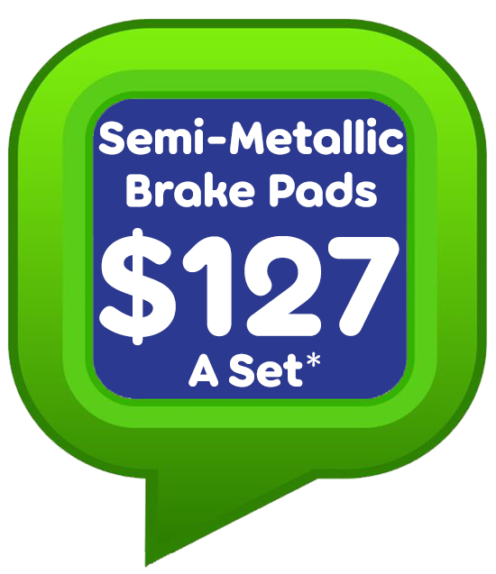 semi metallic brakepads 127